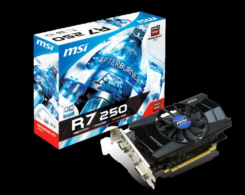 MSI R7 250 1GD5 OC [Specs & Lowest Price] - The World's Best PC Builder