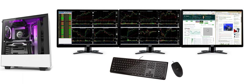 cheapest 3 monitor stock trading computer
