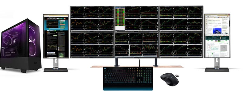 cheap 8 monitor stock trading computer